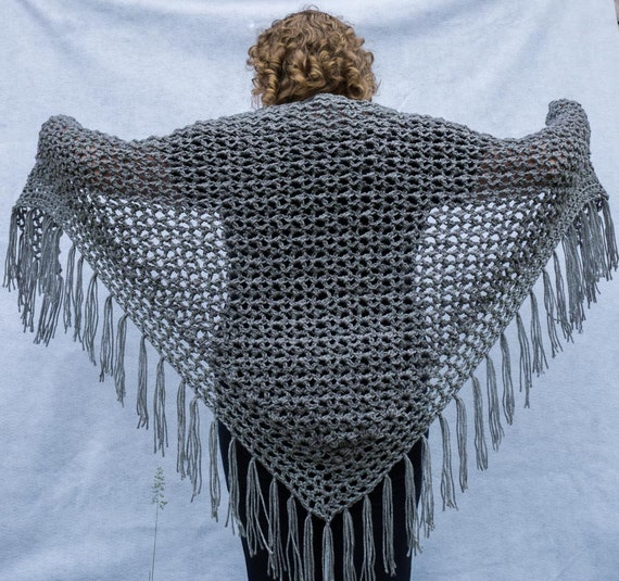 Crochet Shawl Pattern Pebble Lace Crochet Shawl Instant Download