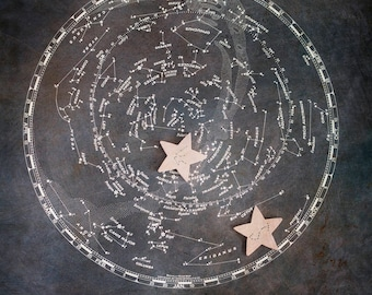 Constellation Map, Personalized Wedding Gift, Zodiac Astrology Sign, Couples Name, Wedding Date, Constellation Stars, Alternative Guestbook