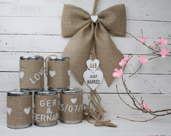 Tin can wedding car decorations rustic car decoration tin can wedding car decorations rustic wedding decoration rustic car decoration wedding decoration junglespirit Image collections