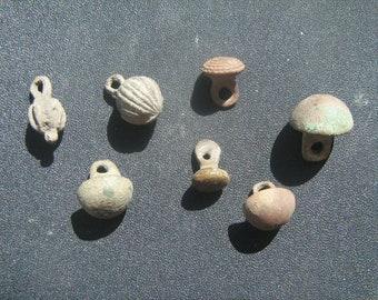 Set of 7 Antique miniature  bronzе buttons