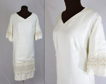Wedding Dress / Mod Dress / Engagement Dress / 1960s Dress / XXL