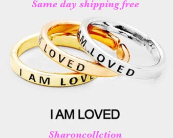 I AM LOVED - inspiration ring ( only one ring chose primary color )