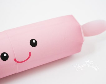 Rolling Pin Favor Box, Gift Box, Baking Party, Little Chef Party, Baking Birthday, Party Favor, Kawaii Favor, Cooking, Girly Baking Party