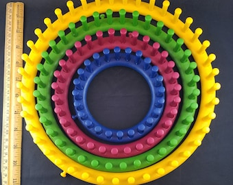 Set of 4 Circle Knitting Looms--Four Sizes