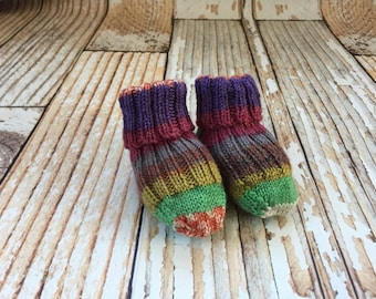 Knit Baby Booties - Baby Girl Socks - Hand Knit Baby Socks - Knitted Baby Booties - Knit Socks for Babies - Stay On Socks Booties