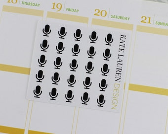 Podcast Planner Stickers for Erin Condren, Podcast Stickers, Podcast Icon Stickers
