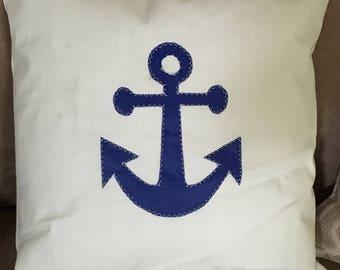 Custom sailcloth 18x18 pillow