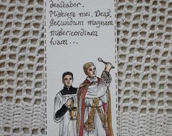 Asperges Me - Original Hand Illustrated Latin Mass Bookmark