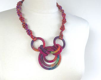 Textile Necklace Cancun