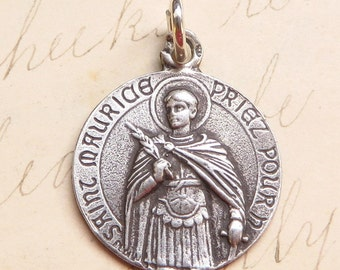 St Maurice Medal - Patron of soldiers - Antique Reproduction