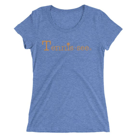 Tennis.see® Ladies Fitted Tennessee Tennis Ladies' short sleeve t-shirt Several Colors - Ladies Fitted style