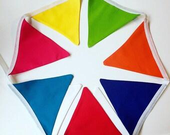Bright carnival rainbow bunting