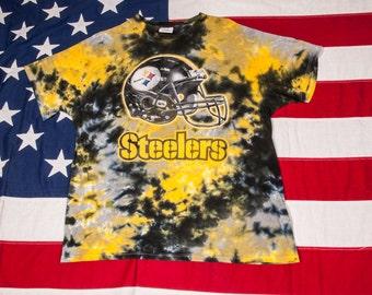 Pittsburgh STEELERS Football T-Shirt Tie Dye