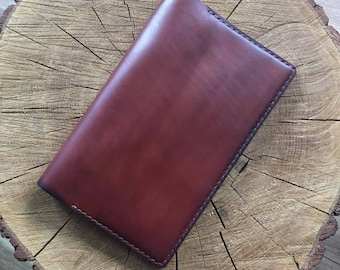 Leather Notebook A5 slim, Leather Notepad Cover, Leather Journal Cover, Leather Moleskine Cover A5, A5 Jibun Techo slim, Jibun techo cover