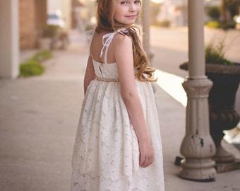Flower Girl Dress, Lace Flower Girl Dress, Boho Flower Girl Dress, Rustic Flower Girl Wedding, Toddler Flower Girl, Bohemian Flower Girls