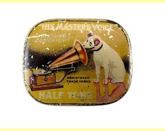 Beautiful box lunch old vintagefr gramophone needles