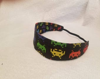 Space Invaders - Tetris Reversible Cloth Headband