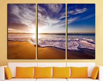 Beach wall art Beach wall decor Beach print Beach canvas California wall decor California wall art California canvas Sunset Art Large Canvas