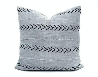 Gray mudcloth pillow cover, various sizes mudcloth pillow, mudcloth pillow cover, african mudcloth pillow