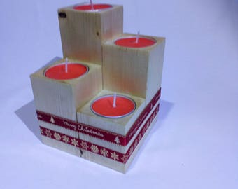 4 piece Christmas tea candle holder