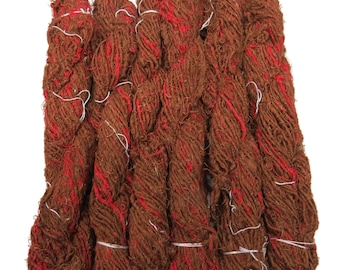Linen Yarn,  Copper / Red