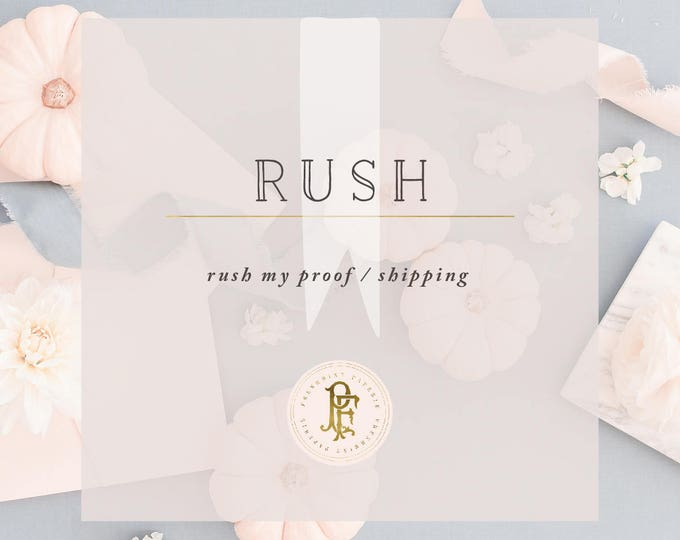 RUSH : proof or printing with Print orders