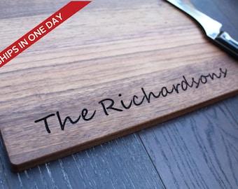 Cutting Board, Wood Cutting Board, Wedding gift, Personalized Cutting Board, Wedding Present, Custom Board, Serving Board