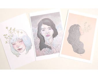 illustration greeting cards lot