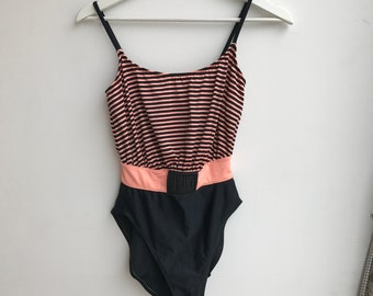 Vintage High Cut One Piece Swimsuit