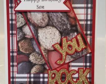 Happy Birthday Son, You Rock! Birthday card