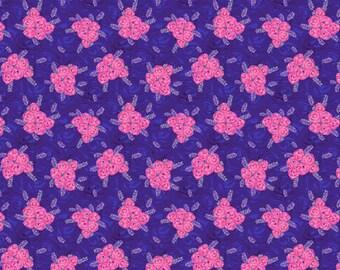 Judith's Fancy by Jennifer Paganelli for Free Spirit - Deborah - Royal - Fat Quarter - FQ - Cotton Quilt Fabric