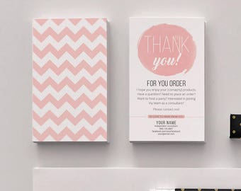 thank you cards size