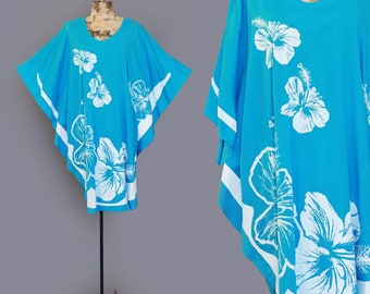 Hans Jutte Hawaii Blue Caftan dress