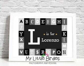 Alphabet Name - Custom