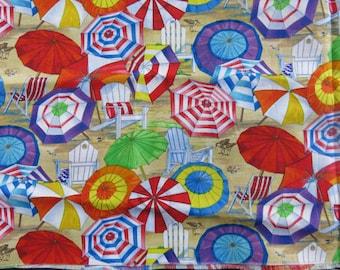 Coupon/fabric American umbrellas, beach, vacation, sea 25/29 cm ideal for customizing t shirts etc etc.