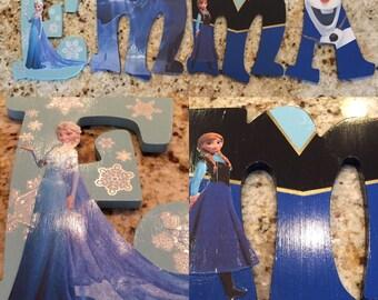 Frozen Themed Nursery Letters