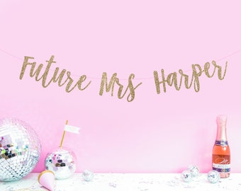 Personalised Future Mrs Hen Party Banner - Hen do decor - Hen night banner - classy hen party decor - weekend hen party