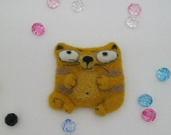 Needle Felted Wool Cat