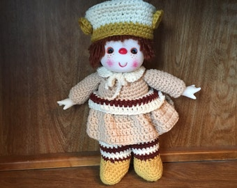 Ginger Cookie Crochet Doll