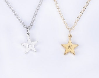 Personalized Name Necklace, Star Necklace,Custom Necklace Personalized Necklace For Women Bridesmaid Gift,Engraved Necklace- 1038