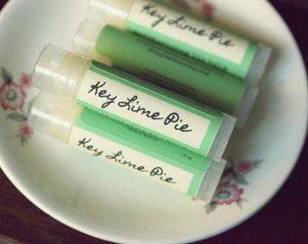 Key Lime Pie Lip Balm with Vitamin E // handmade natural lip balm // dessert lip balm // perfect stocking stuffer or small gift