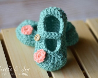 CROCHET PATTERN: Little Dot Baby Mary Janes pdf DOWNLOAD