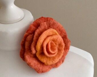 Merino Wool Brooch  Felted Wool Brooch  Flower Style Brooch  Pin