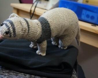 Knitting pattern (NOT A FINISHED TOY)Mayka the Ferret.