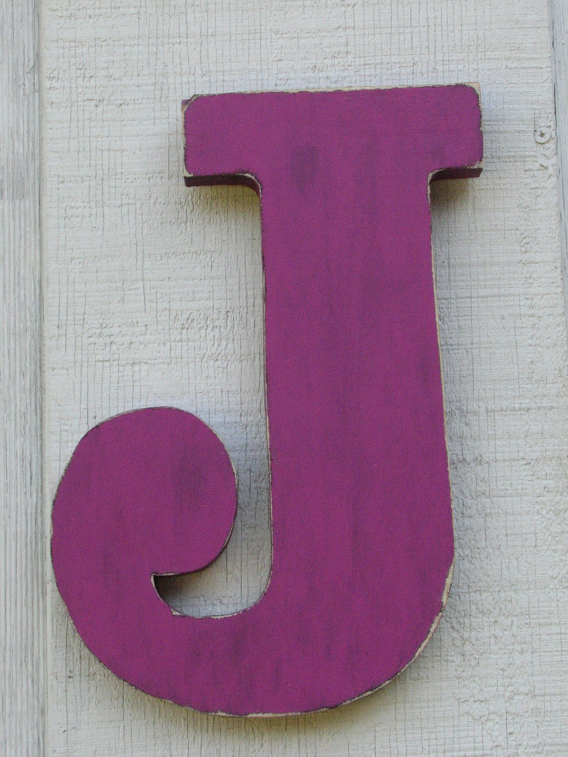 Large Letter J For Wall Large Wall Wood Letters Uppercase J Violet Shabby