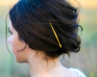Snake Hair Pin Gold Snake Hair Clip Edgy Bobby Pin Snake Hair Clip Snake Barrette Minimalsit Hair Piece Medusa Hair Goth Hair Accessory