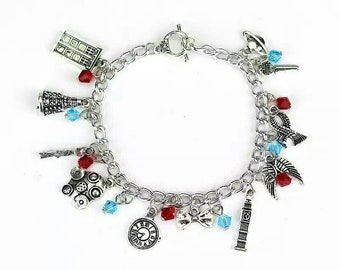 Doctor Who Inspired Loaded Charm Bracelet