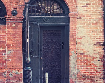 New Orleans Photography, French Quarter Architecture, Door with Texture, Fine Art Photography-Common Entry