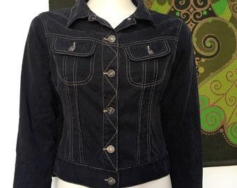 90's vintage CROPPED Tencel jacket S
