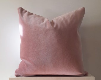 12x24 Pink Velvet Pillow Cover